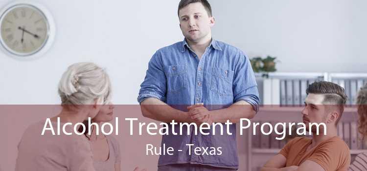 Alcohol Treatment Program Rule - Texas
